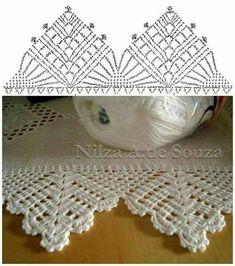 Best 12 Crochet Patterns Lace Crochet Lace Edging for Handtowel ~~ sandragcoatti – Salvabrani – SkillOfKing. Crochet Border Patterns, Crochet Boarders, Crochet Lace Edging, Crochet Chart, Thread Crochet, Crochet Trim, Filet Crochet, Irish Crochet, Crochet Designs