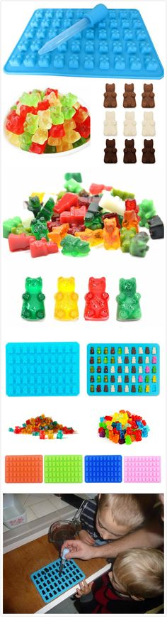 50 Cavity Gummy Bears Hard Candy Chocolate Silicone Soap Ice Cube Tray Mold Party Wedding Decorating Baking Tools Candy Cookies, Bear Design, Baking Tools, Gummy Bears, Hard Candy, Cavities, Ice Cube Trays, Party Wedding, Kitchen Tools