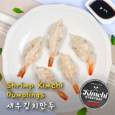 } No meat, double the flavor. Your new favorite dumplings with a tangy twist, kimchi and shrimp get wrapped. Ingredients (serving Dumpling wrappers Shrimp (tail-on) kimchi (aged kimchi is prefe Shrimp Recipes, Snack Recipes, Snacks, How To Devein Shrimp, Cabbage Steaks, Dumpling Wrappers, Kimchi Recipe, Garlic Chives, Home Food