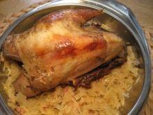 Fazan cu varza Sauerkraut, Winter Food, Pork, Meat, Chicken, Pheasant Recipes, Pot Roast Recipes, Christmas Meals, Oven