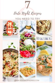 7 Date Night Recipes You Need to Try That Are Simple to Make | Burrata Appetizer | Seafood Pasta | Vegan Recipe Ideas | Mushroom Risotto | Heart-shaped Pizza | Caprese Salad | Tuscan Chicken | Sundried Tomato Chicken Alfredo | Easy Meals | Valentine's Day Menu Ideas | Simple Family Dinners | Shrimp Scampi with Zucchini Noodles | #datenight #recipes #valentinesday