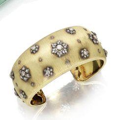A diamond cuff, by Buccellati,