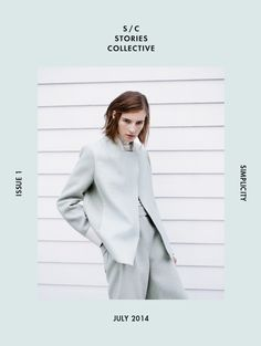 Collective Simplicity Issue 2014 | Flávia Lucini and Marine Van Outryve