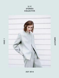 Stories Collective Simplicity Issue 2014 | Flávia Lucini e Marine Van Outryve [Capas]