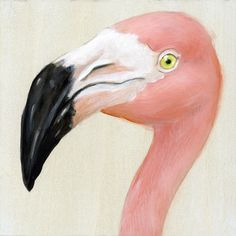 Print on Wood Flamingo by maggiehurley on Etsy