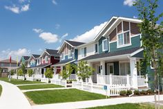 Beautiful exteriors! #landscaping #exteriorcolours #newhome Pocket Neighborhood, Beautiful Park, Townhouse, Paths, Amber, The Neighbourhood, Trail, Landscaping, New Homes