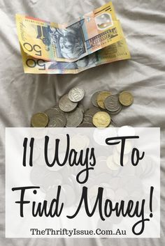 11 ways to find money - The Thrifty Issue