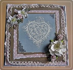 Dunja's Cards und More - my {he}art place Shabby Chic Karten, Shabby Chic Cards, Diy Blog, Cute Cards, Cardmaking, Stamping, Grunge, Hearts, Tags
