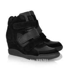 $108.00 Ash Brand Alex Suede and Leather Wedge Sneaker