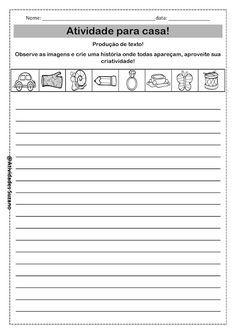 Atividades para casa: palavras, frases e produção de texto! - Atividades Adriana