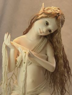 Fairy mother to be by Hannie Sarris Fairy Fantasy Sculptures