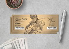 Ticket Template for only $6 | Designs.net Ticket Design, Ticket Template, Freelance Graphic Design, 60th Birthday, Vector Graphics, Create Yourself, Clip Art, Templates, Vector Stock