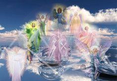 Hiérarchie des Anges, 9 chœurs angéliques, regroupées en trois groupes de 3, les Anges Supérieurs, les Anges Intermédiaires et les Anges de Lumière.
