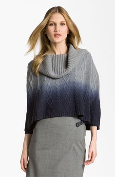Lafayette 148 New York Dip Dye Knit Capelet available at #Nordstrom