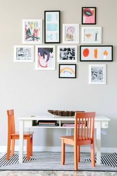 Turn your kiddo's art into a gallery wall.