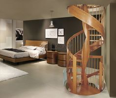 Image result for escalier tournant bois