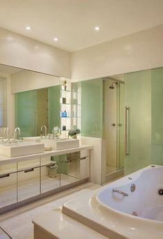 Banheiro do apto da organizadora do Morar mais por Menos RJ. Vem ver no blog #saladeestar #turquesa #achadosdedecoração