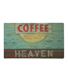 Look what I found on #zulily! 'Coffee Heaven' Rug #zulilyfinds