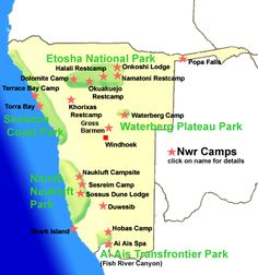 NWR map of camp sites