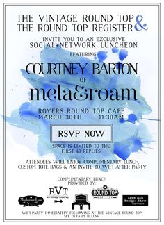 Social+Network Luncheon Spring 2015 - Invite, The Vintage Round Top