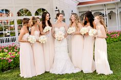 Pretty in pink bridesmaids spotted at Disney's Grand Floridian Resort & Spa