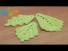 ▶ How to Crochet Two-Side Leaf Work In Back Loops Tutorial 3 - YouTube