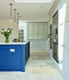 Tom Howley hand-painted blue Hartford kitchen