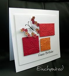 love the use of scraps, a great idea to emboss them to give a different texture