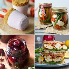 16-08-13 Strawberry Cheesecake Popsicles - Damn Delicious.  Refrigerator Pickles - BetterRecipes. Pickled Cherries - While Chasing Kids.  Moroccan Grilled Chicken Sandwich with Preserved Lemon Tapenade and Harissa Mayo - Closet Cooking.