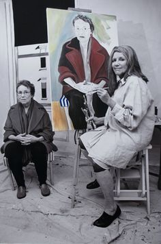 "alice neel paintings | ... Alice Neel Painting the Portrait of S. Stockhold"" (Original Art from"