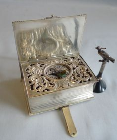 Gavin Douglas: a superb antique singing bird box from Germany, circa 1930s.