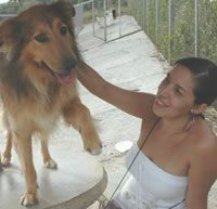 This is me, Catalina, with Filipe! Such a sweet boy! Support shelters around the world please.
