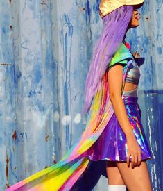 Fashion brand Cosmic Unicornz is all colors of the rainbow done to the extreme, in the most bold of styles, with as many embellishments as possible.
