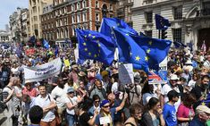 Huge anti-Brexit demonstration throngs central London More than 100,000 people march down Whitehall to demand a second referendum