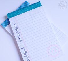 Teacher Appreciation Gift: Washi Tape Notepads - The Girl Creative