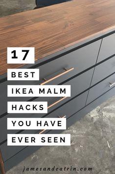 17 Awesome Ikea Malm Hacks that will Make your Day &; james and catrin 17 Awesome Ikea Malm Hacks that will Make your Day &; james and catrin ia He rooms The Ikea […] diy dresser Ikea Hacks, Ikea Furniture Hacks, Diy Hacks, Ikea Furniture Makeover, Dresser Furniture, Paint Ikea Furniture, Bedroom Furniture, Furniture Ideas, Cheap Furniture