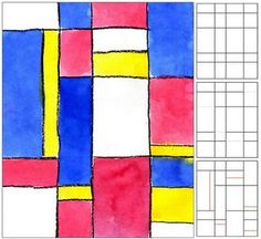 Art Projects for Kids: Mondrian Watercolor Painting