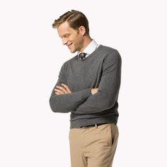 Tommy Hilfiger Rundhals-sweater Aus Kaschmir - silver fog htr - Tommy Hilfiger Pullover & Strickjacken - Hauptbild