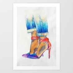 High-Ideals 1 Art Print by Lynsey Morgann Laurence - $64.48
