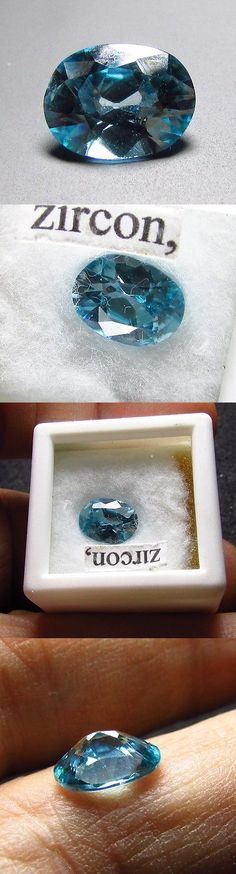Zircon 10286: 2.24Ct Blue Zircon Natural Heated Cambodia Gemstone 9X7mm Oval Gem Free Shipping -> BUY IT NOW ONLY: $190.8 on eBay!