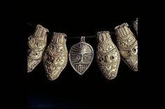 Viking age silver pendants, Gotland, Sweden.