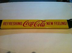 Vintage 1960's Coca Cola Door Push Bar, Original, NOS, Collector Quality= this looks new  anyone ever see this before?