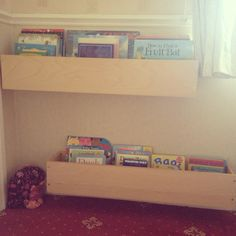 Childrens book shelves from old cd racks - Oh Pinterest how I love you!