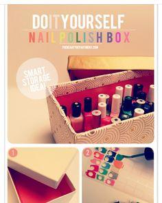 Easy to see Nails Polish Storage Box!