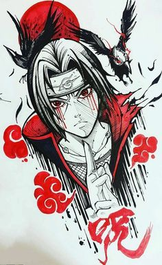Desenho do Itachi Anime naruto Naruto Drawings, Naruto Sketch, Anime Drawings Sketches, Anime Sketch, Cartoon Drawings, Cool Drawings, Drawing Faces, Nose Drawing, Realistic Drawings