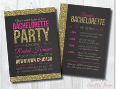 Bachelorette Invite Bachelorette Party Invite by SweetBeeShoppe, $10.00