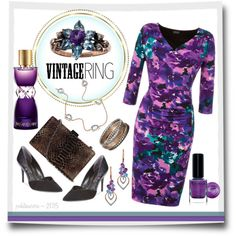 Vintage Amethyst & Aquamarine Ring by pwhiteaurora on Polyvore featuring Grace, Enzo Angiolini, Sonoma life + style, Miadora, Yves Saint Laurent, & BARIELLE ~ created 6-29-2015