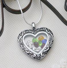 Mimi Necklace, Mimi Heart Necklace, Mimi Gifts, Nana Necklace, Heart Floating…