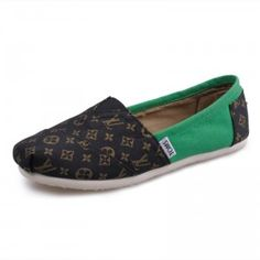 $27.12 on sale! Men Canvas Louis Vuitton Green sale on toms outlet.