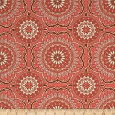 Designed by Joel Dewberry for Free Spirit, this cotton print is perfect for quilting, apparel and home decor accents. Colors include cream, sienna and coral.